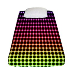 Halftone Pattern Rainbow Fitted Sheet (single Size)