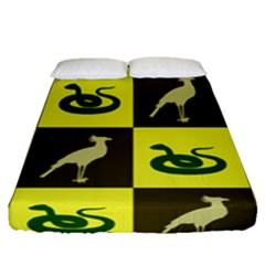 Snake Bird Fitted Sheet (queen Size)