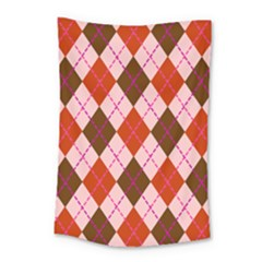 Texture Background Argyle Brown Small Tapestry