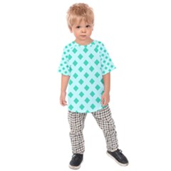 Plaid Blue Box Kids  Raglan Tee