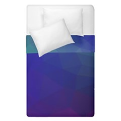 Polyart Dark Blue Purple Pattern Duvet Cover Double Side (single Size)