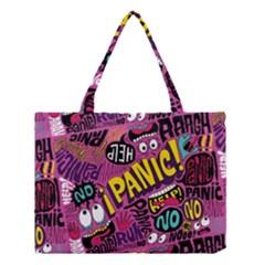 Panic Pattern Medium Tote Bag