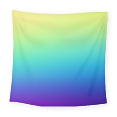 Purple Blue Green Square Tapestry (large)