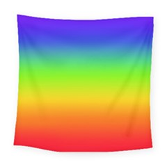 Rainbow Blue Green Pink Orange Square Tapestry (large)
