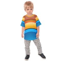 Rainbow Color Kids  Raglan Tee