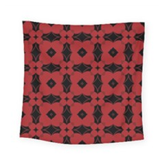Redtree Flower Red Square Tapestry (small)