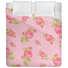 Rose Pink Duvet Cover Double Side (california King Size)