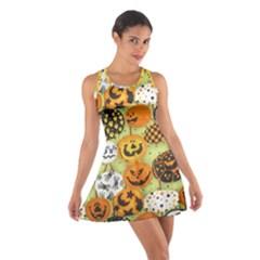 Print Halloween Cotton Racerback Dress