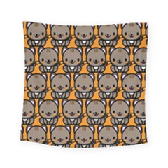 Sitcat Orange Brown Square Tapestry (small)