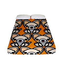Sitchihuahua Cute Face Dog Chihuahua Fitted Sheet (full/ Double Size)