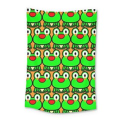 Sitfrog Orange Green Frog Small Tapestry