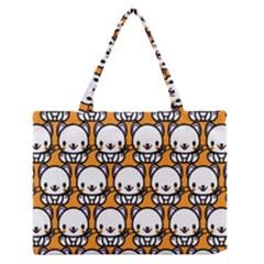 Sitwhite Cat Orange Medium Zipper Tote Bag
