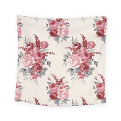 Rose Beauty Flora Square Tapestry (small)