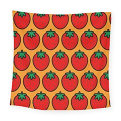 Strawberry Orange Square Tapestry (large)