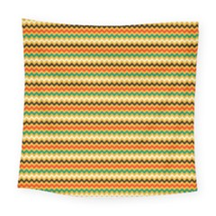 Striped Pictures Square Tapestry (large)