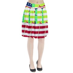 Usa Ireland American Flag Shamrock Irish Funny St Patrick Country Flag  Pleated Skirt