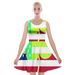 Usa Ireland American Flag Shamrock Irish Funny St Patrick Country Flag  Velvet Skater Dress