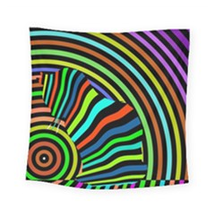 Colorful Cat Square Tapestry (small)