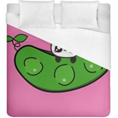 Edamame Panda Pink Cute Animals Duvet Cover (king Size)