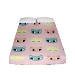 Face Cute Cat Fitted Sheet (full/ Double Size)