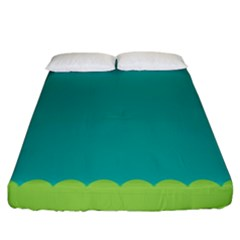 Green Blue Fitted Sheet (king Size)