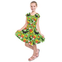 Ghostly Lullaby Kids  Short Sleeve Dress