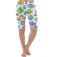 Fishes Col Fishing Fish Cropped Leggings