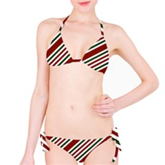 Line Christmas Stripes Bikini Set