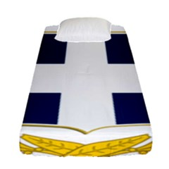 Coat Of Arms Of Greece Military Variant Fitted Sheet (single Size)