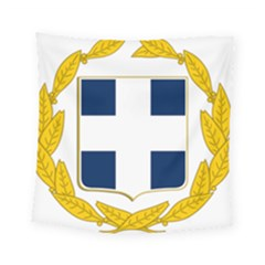 Coat Of Arms Of Greece Military Variant Square Tapestry (small)