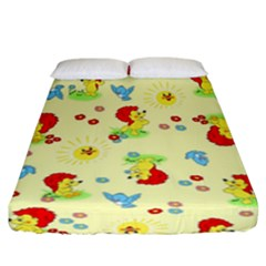 Lion Animals Sun Fitted Sheet (california King Size)