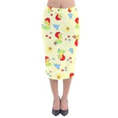 Lion Animals Sun Velvet Midi Pencil Skirt