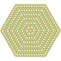 Pattern Circle Green Yellow Mini Folding Umbrellas
