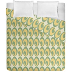 Pattern Circle Green Yellow Duvet Cover Double Side (california King Size)