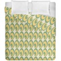 Pattern Circle Green Yellow Duvet Cover Double Side (California King Size) View1