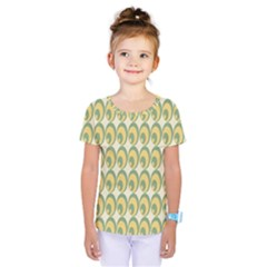Pattern Circle Green Yellow Kids  One Piece Tee