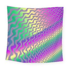 Line Colour Wiggles Square Tapestry (large)