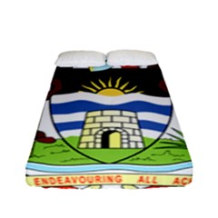 Coat Of Arms Of Antigua And Barbuda Fitted Sheet (full/ Double Size)