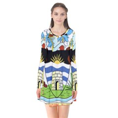 Coat Of Arms Of Antigua And Barbuda Flare Dress