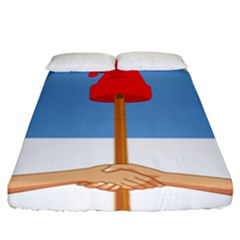 Coat Of Arms Of Argentina Fitted Sheet (king Size)