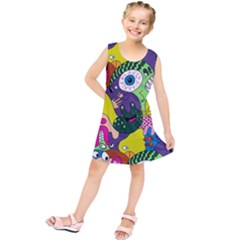 Another Weird Pattern Kids  Tunic Dress