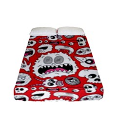 Another Monster Pattern Fitted Sheet (full/ Double Size)