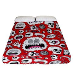 Another Monster Pattern Fitted Sheet (queen Size)