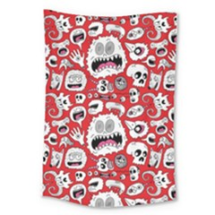 Another Monster Pattern Large Tapestry