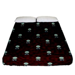 Bloody Cute Zombie Fitted Sheet (queen Size)
