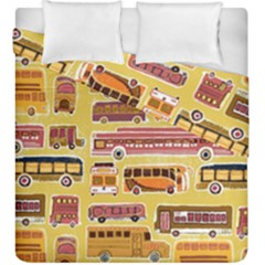 Bus Cartoons Logo Duvet Cover Double Side (king Size)