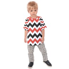 Colored Chevron Printable Kids  Raglan Tee