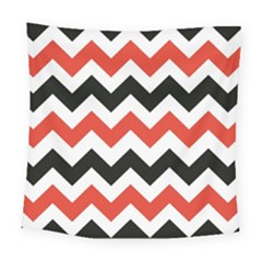 Colored Chevron Printable Square Tapestry (large)