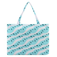 Darkl Ight Fly Blue Bird Medium Zipper Tote Bag