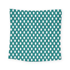 Circular Pattern Blue White Square Tapestry (small)